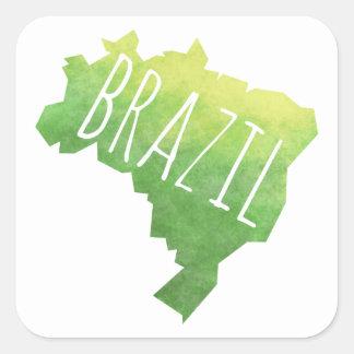 Brasilien Quadratischer Aufkleber