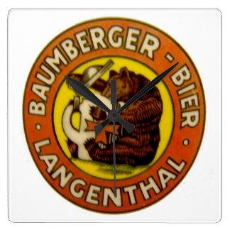 Brasserie Baumberger Langenthal Horloge Carrée