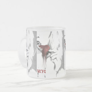 Bratenfett-Erdbeerblondinen-Glas Matte Glastasse