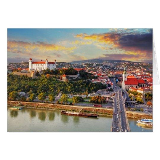 Bratislava, Slowakei Grußkarte