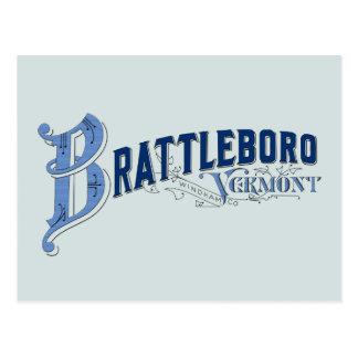 Brattleboro, Logo-Position 1896 Vermonts, Windham Postkarte