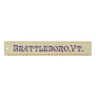 Brattleboro, VT-Logo-Machthaber 1886 Lineal