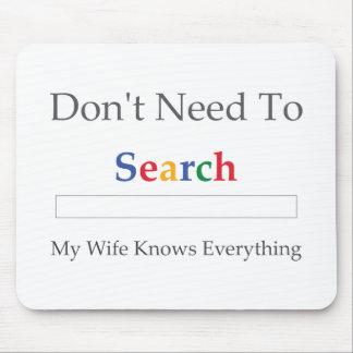 Brauchen Sie nicht zu suchen. Meine Ehefrau weiß a Mousepads