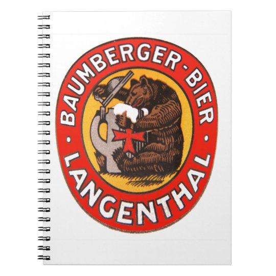 Brauerei Baumberger Langenthal Notizheft Notizblock