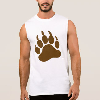 Braunbär-Stolz-Bärentatze (L) Ärmelloses Shirt