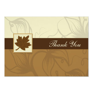braune Hochzeit im Herbst danken Ihnen 12,7 X 17,8 Cm Einladungskarte