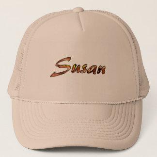 Braune Maschenkappe Susans für Damen Truckerkappe