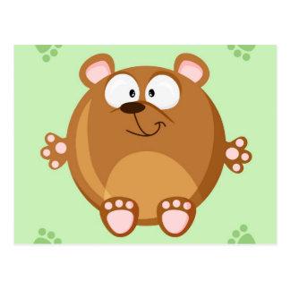 Brauner Bär des niedlichen Kreises Postkarte
