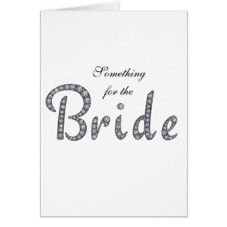 Braut, die kundenspezifische Karte bling ist