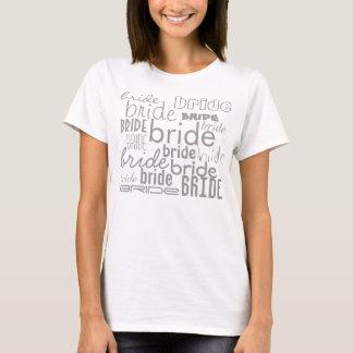 Braut-grauer Text-Entwurfs-verschiedener T-Shirt