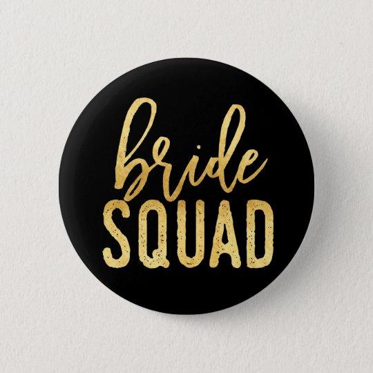 Braut-Gruppen-Gold Runder Button 5,7 Cm