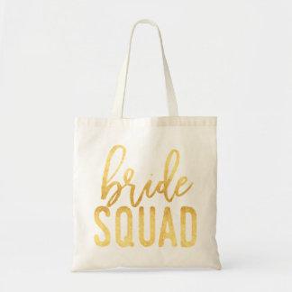 Braut-Gruppen-Gold Tragetasche