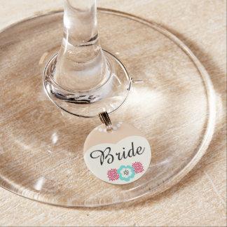Braut-Hochzeits-Wein-Charme Glasmarker