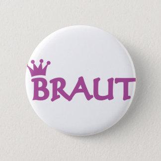 Braut Ikone Runder Button 5,1 Cm