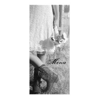 Braut in den Cowboystiefel-Sonnenblumen Wedding Werbekarte