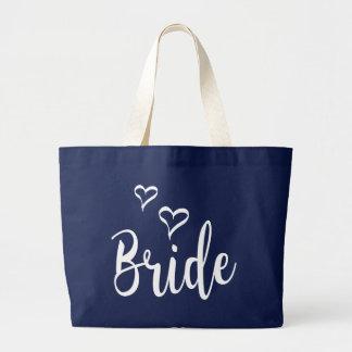 Braut-Liebe-Herzen, die Typografie Wedding sind Jumbo Stoffbeutel
