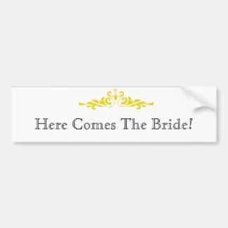 Braut-Mitteilung Autoaufkleber