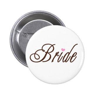 Braut-nobles Braun Runder Button 5,7 Cm