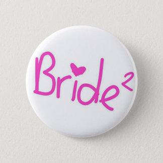 Braut quadriert runder button 5,1 cm