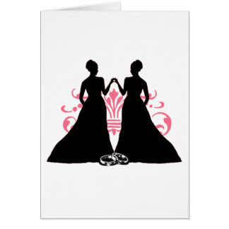 Braut-Rosa der Ehe-zwei Grußkarte