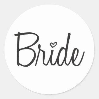 Braut Runder Aufkleber