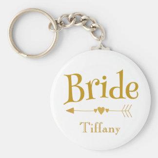 Braut-schönes Hochzeits-Memento Schlüsselanhänger