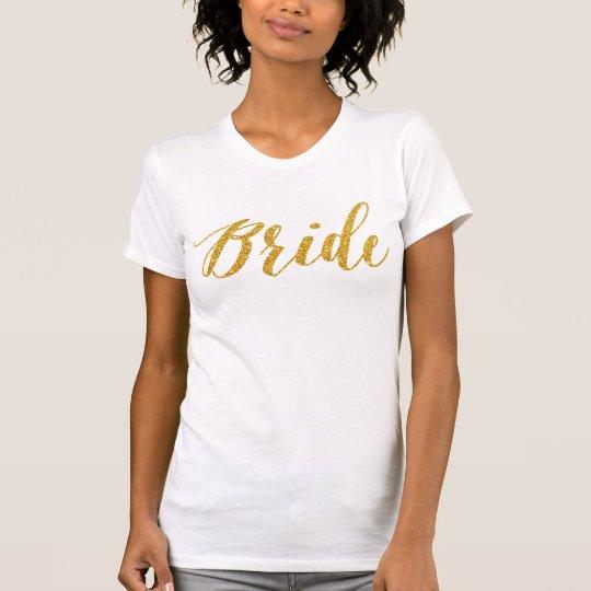 Braut-Shirts für Junggeselinnen-Abschieds-Gold T-Shirt