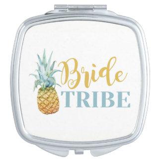 Braut-Stamm-Ananas-Brautjungfern-Duschen-Hochzeit Schminkspiegel