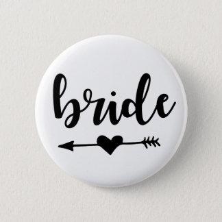 Braut-Stamm-Knopf für Braut Runder Button 5,1 Cm
