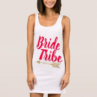 Braut-Stamm-Typografie Calligaphy Hand beschriftet Ärmelloses Kleid