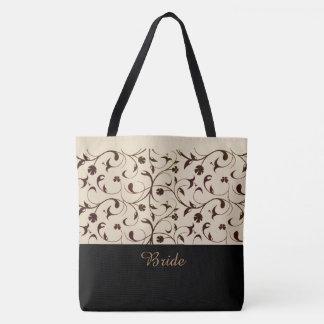 Braut-Taschen-Taschen-Beige u. Brown-Rollen Tasche