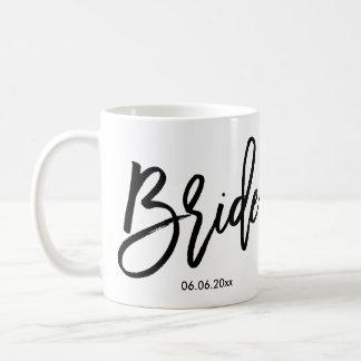Braut-Tasse addieren Hochzeits-Datum Kaffeetasse