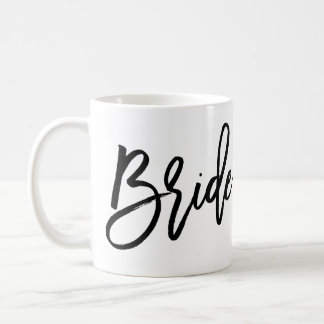 Braut-Tassen-Ebene weiß und schwarz Kaffeetasse