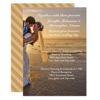 Braut u. Bräutigam auf 12,7 X 17,8 Cm Einladungskarte