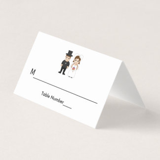 Braut u. Bräutigam - Eskorte-Karten Platzkarte