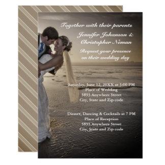 Braut-u. Bräutigam-laden Grayed 12,7 X 17,8 Cm Einladungskarte