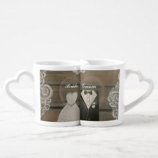 Braut-u. Bräutigam-Liebhaber-Kaffee-Tassen-Set Liebestassen