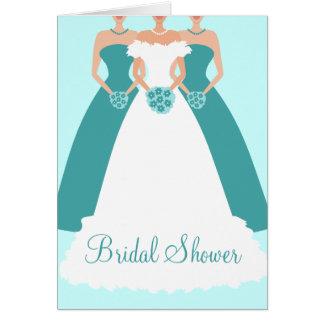 Braut-u. Brautjungfern-Brautparty-Einladung Karte