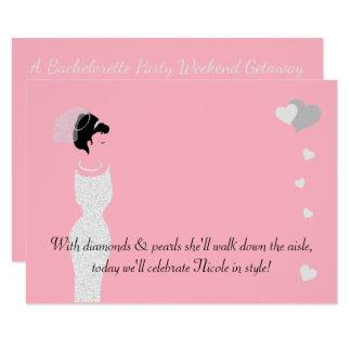 BRAUT u. Co rosa Braut-Duschen-Party Einladung