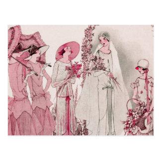 Braut und Begleiter Postkarten