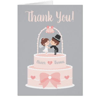 Braut-und Bräutigam-Deckel-Hochzeit danken Ihnen Karte