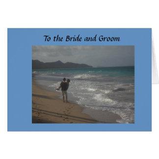 Braut und Bräutigam Grußkarte