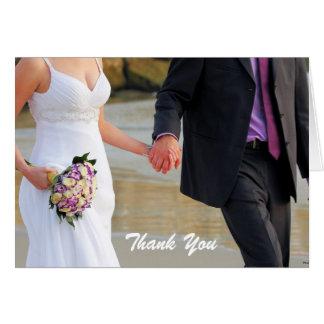 Braut-und Bräutigam-Hochzeit danken Ihnen zu Karte
