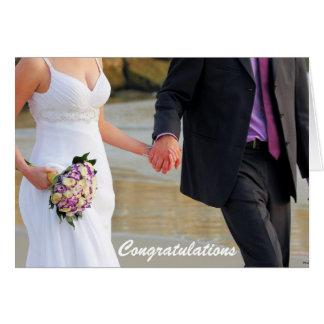 Braut-und Bräutigam-Hochzeits-Gruß-Karte Karte