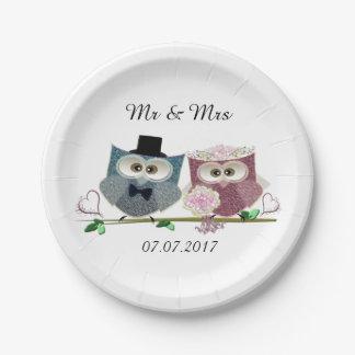 Braut-und Bräutigam-Hochzeits-Papier-Teller Pappteller