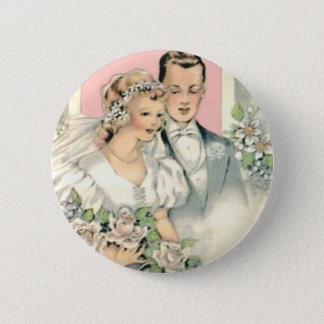 Braut und Bräutigam Runder Button 5,7 Cm