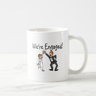 Braut und Bräutigam sind wir verlobter Toast Kaffeetasse