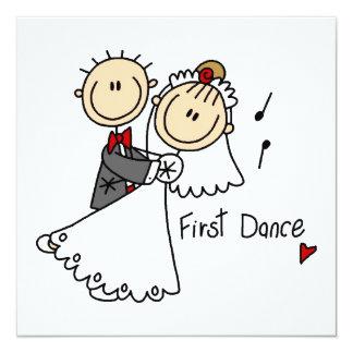 Braut und Bräutigam tanzen zuerst T - Shirts und Quadratische 13,3 Cm Einladungskarte