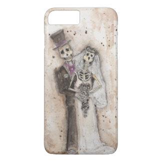 Braut- und Bräutigamskelettpaare iPhone 8 Plus/7 Plus Hülle