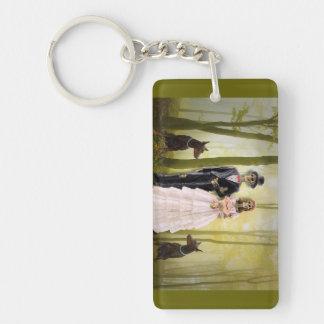 Braut und Groon Skelette Keychain Schlüsselanhänger